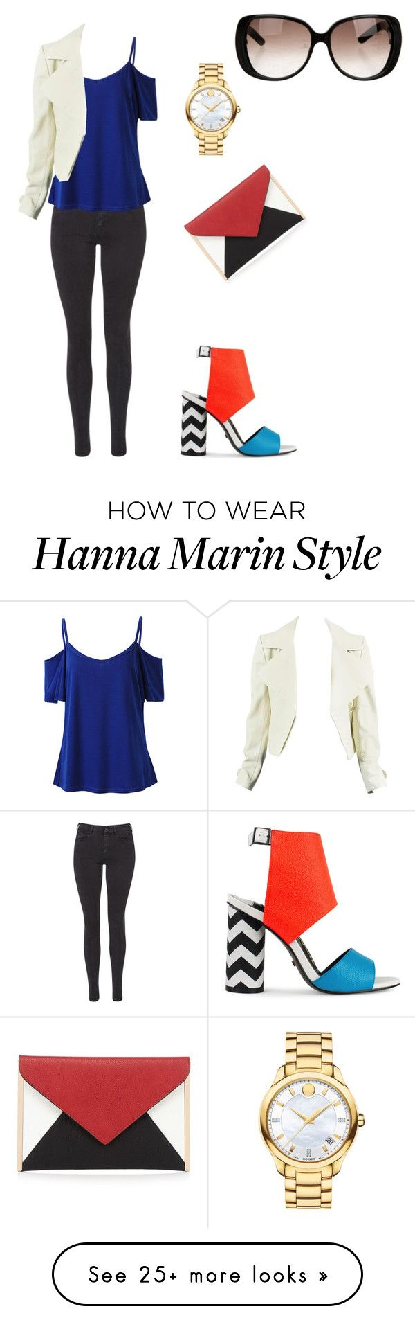 """I made Hanna Marin from the Pretty Little Liarss  #HannaMarin #PLL #İdolOutfitsFromMina"" by minatosun on Polyvore featuring Maison Scotch, Red Herring, Kat Maconie, Movado and Gucci"