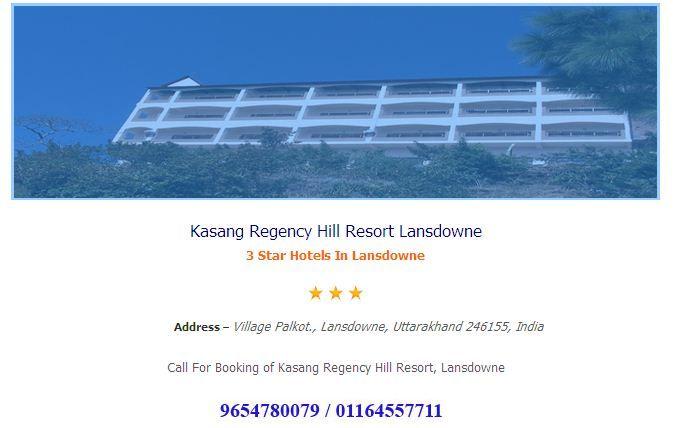 Kasang Regency Hill Resort Lansdowne online booking ----hotelsinlansdowne.co.in