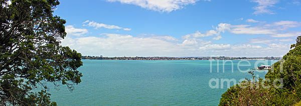 Bucklands Beach Panorama as seen from the end of Clouston Rd, Glendowie, Auckland, New Zealand.