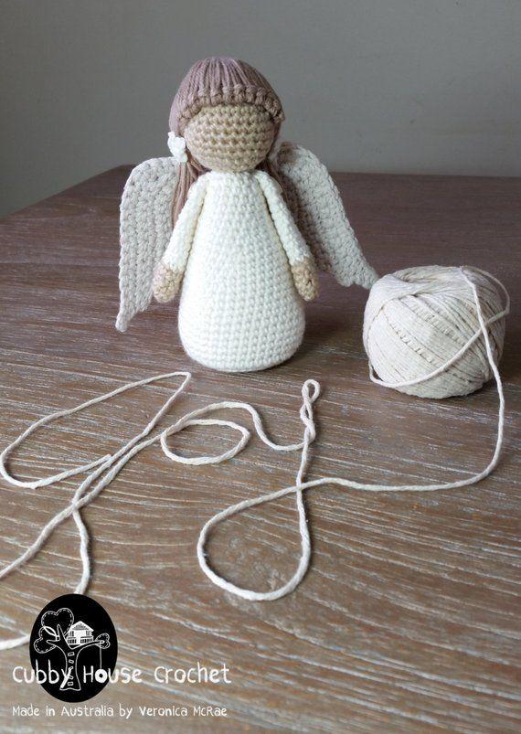 Angelito Ángel Amigurumi Tejido A Crochet Llavero - $ 65.00 en Mercado Libre   803x570