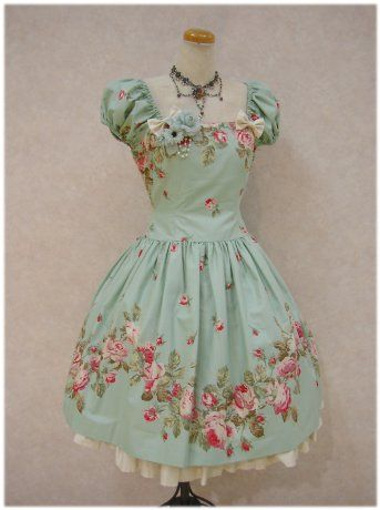 If I dressed in Lolita style for a day,  I would toats wear this! this dress reminds me of a tea cup I want it now! really pretty