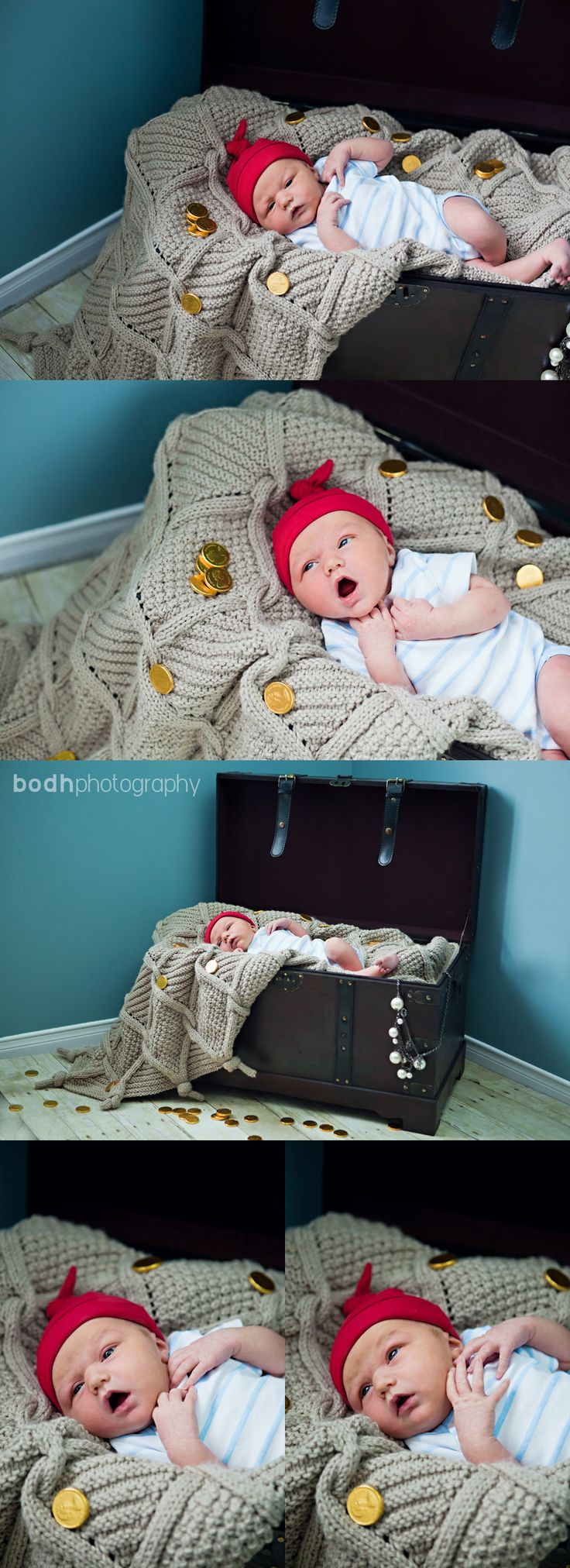 Oh... so sweet, pirate babies. I kinda want a treasure chest just for this.