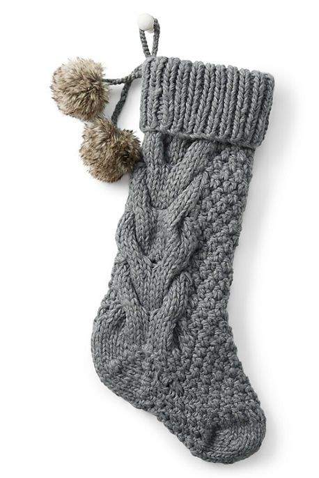 Cable Knit Stocking from Lands' End