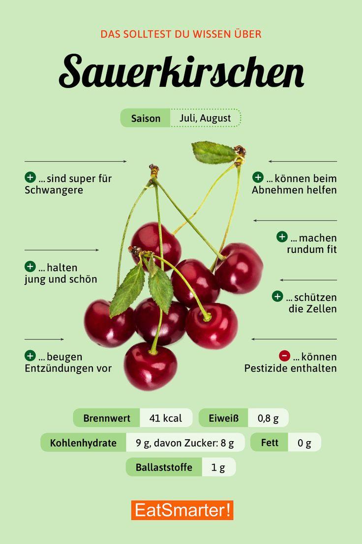 Das solltest du über Sauerkirschen wissen | eatsmarter.de #sauerkirschen #ernährung #infografik