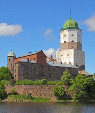 Vyborg (Viipuri) Castle. This town was a Finnish town before being taken over by the Soviets during the Second World War.