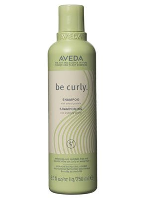 Aveda Be Curly Shampoo  it contains a blend of aloe and wheat protein that retracts around ringlets as they dry to help fight frizz).