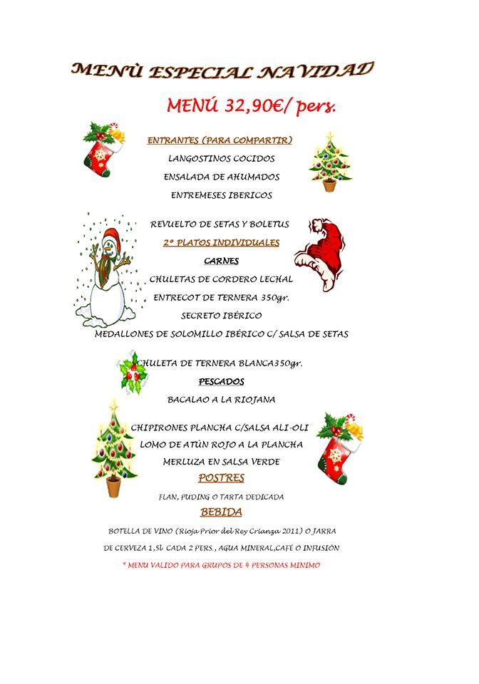 Mostoles nuestros negocios: menu de Navidad 2014 en Taberna Tres Hermanos