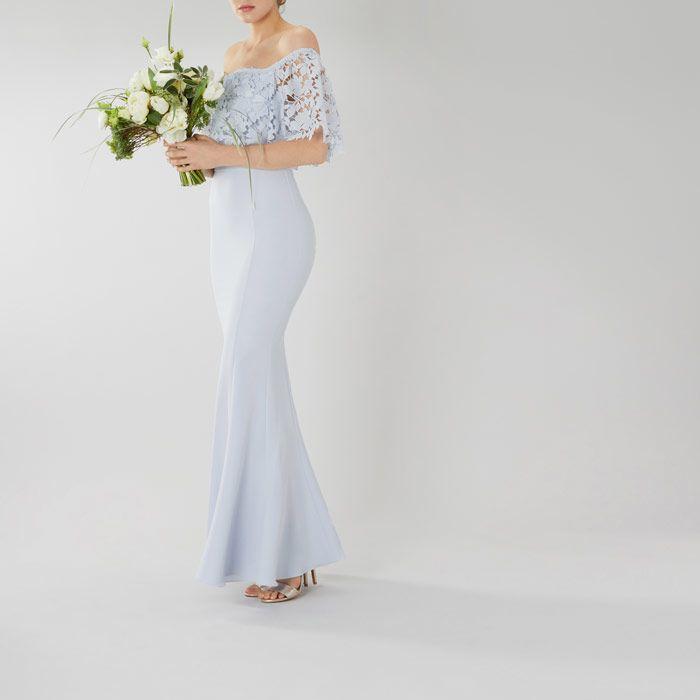Coast Pale Blue Dress Izel Bardot Maxi Beautiful Dress Designs Stunning Bridesmaid Dresses Bridesmaid Dresses