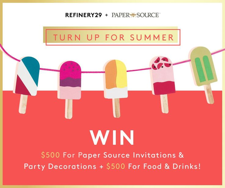 Win everything you need to throw the BEST summer party! Enter now: http://r29.co/1IOJGZG