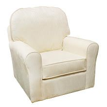 "Newco Premium Rosie Glider - Ivory - NEW Corp - Babies ""R"" Us. Sat in this chair and it is very comfy. See also matching ottoman."