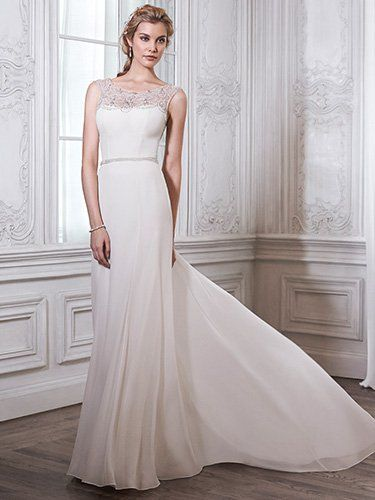 Farah Wedding Dress by Maggie Sottero | front-- Absolutely love the movement of the dress and the subtle glamour of it. But can I pull it off without hips? $1179