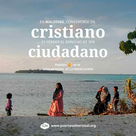 La vida normal en la iglesia (es decir, congregarse para adorar en grupos, momentos de comunión, trabajo con jóvenes, etc.) es imposible para los cristianos maldivos. Conoce más sobre la realidad del país que ocupa la posición 13 en la Lista Mundial de la Persecución: http://bit.ly/OdlaMaldivas