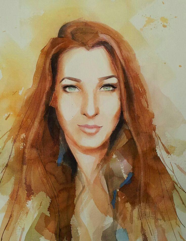 Watercolor/ Elwira II/ 45x32 cm/ QoR