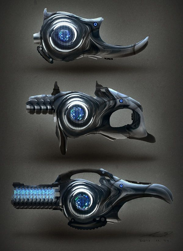 Sci Fi Turbine Weapon Concepts by ~misi006 on deviantART