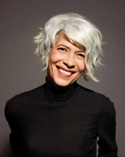 gray hair styles photos silver gray hair bobs and 4393