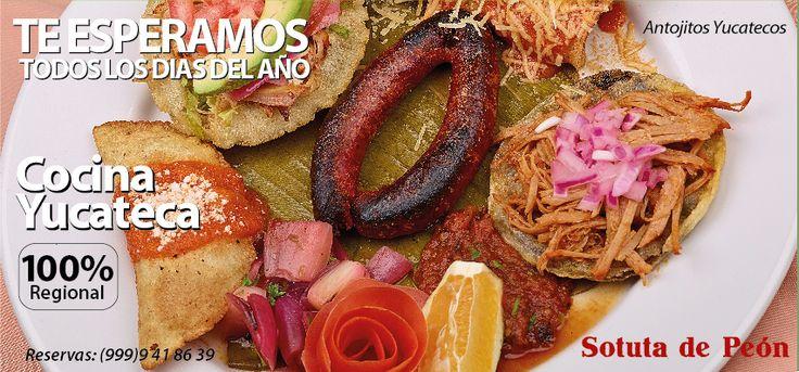 Delicious Yucatecan food in Hacienda Sotuta de Peon, Yucatan.