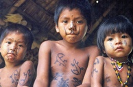 BOGOTÁ, Colombia – Indians from the Nasa West reservation in the western region of Colombia. In this picture: Children of the Embera-Katío tribe. (Courtesy of ONIC)