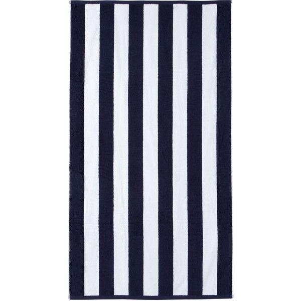 Cabana Stripe Beach Towel Color: Navy found on Polyvore
