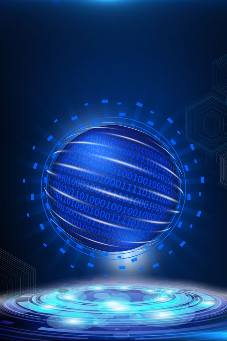Boao Blue Technology Business Advertising Background