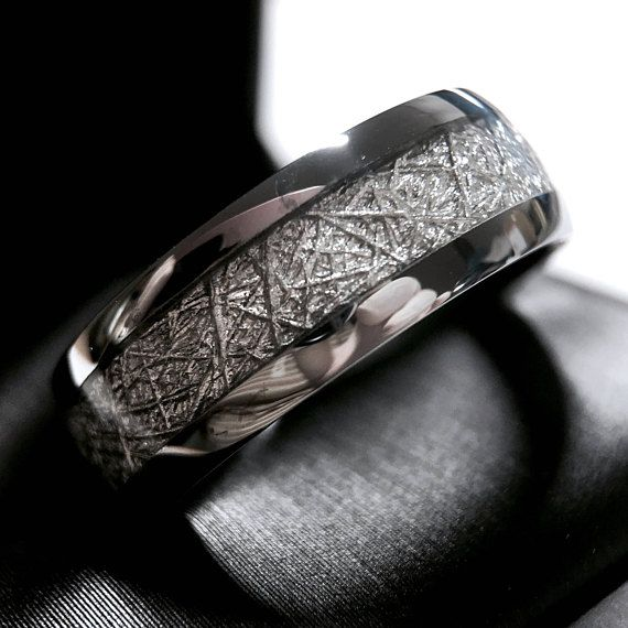 Pin By Leah Mcnair On Future In 2020 Meteorite Wedding Band Meteorite Wedding Rings Rings Mens Wedding Bands