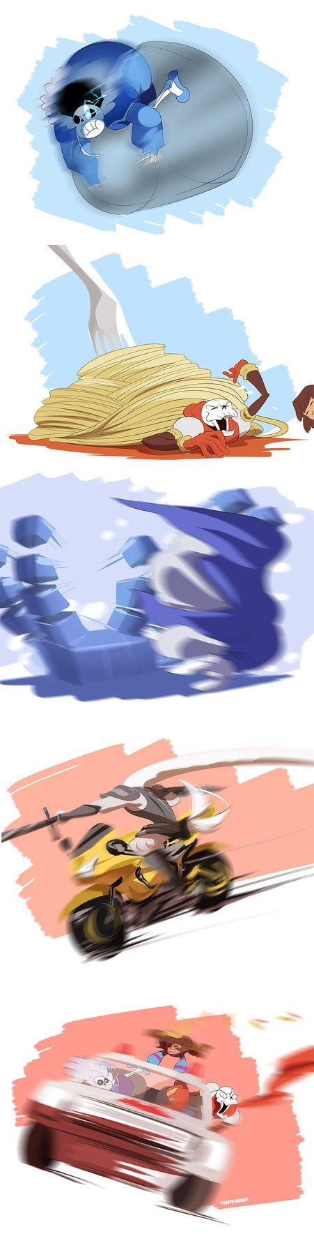 sans, papyrus, frisk - Little Buddies - Series 1 by YAMsgarden.deviantart.com on @DeviantArt