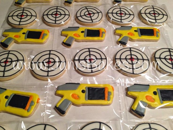 Janis Bakes: Nerf Guns and Targets cookies - For all your cake decorating  supplies,