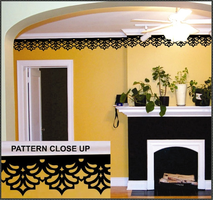 14 best Wall Stickers images on Pinterest   Damask stencil, Stencil ...