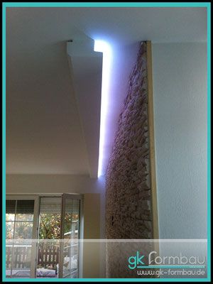 Gipskarton Formteile Fur Trockenbau Lichtvouten Indirekte Beleuchtung Beleuchtung Indirekte Beleuchtung Wohnzimmer