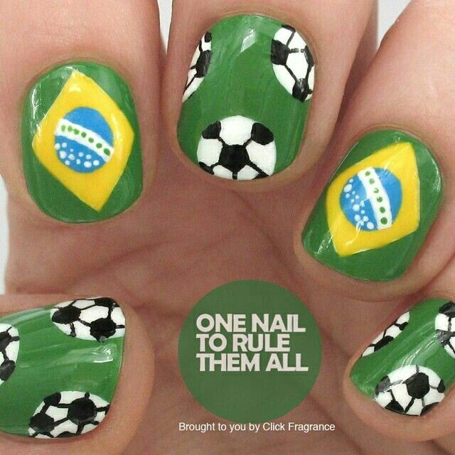 104 best world cup nails & nail art design tutorial by nded images ...