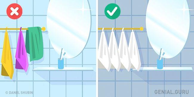 10Trucos deinterior que liberarán espacio entuhogar toalla un solo color