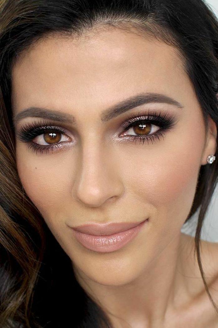 Le maquillage yeux marron soirée