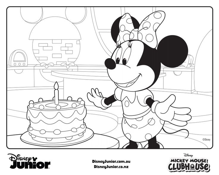 Minnie Birthday Fun Mickey Clubhouse Pdf Colouring In Drawings