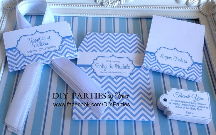 Table sign, tent cards, gift tags & candy buffet labels.  Find us on Facebook:  www.facebook.com/diyparties