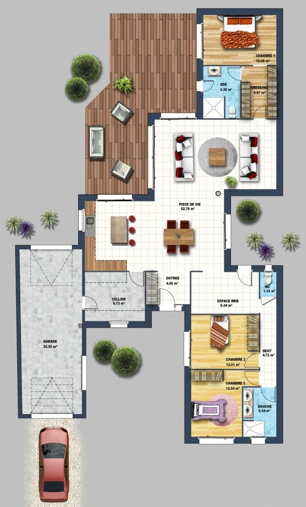 10 Best images about plan maison on Pinterest House plans, Toilets
