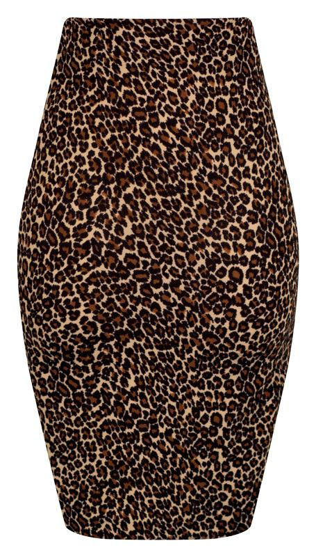 Stretchy Leopard Pencil Skirt