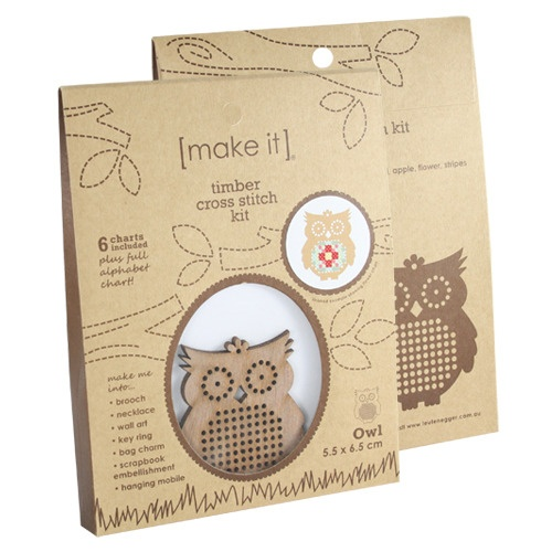 Owl Timber Cross Stitch Kit, for the Christmas tree?