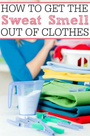 Don't throw out those old smelly gym clothes. Check out how to get the sweat smell out of clothes. It is so easy and the smell stays gone.