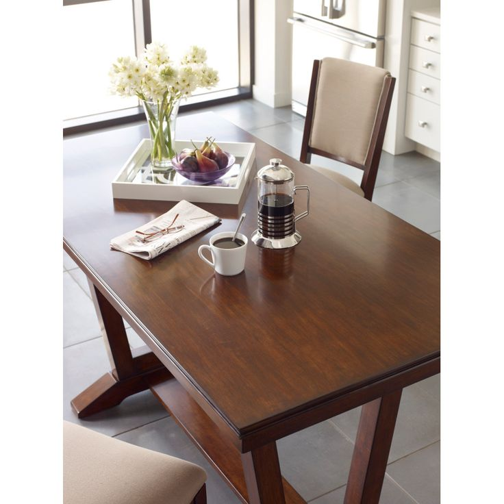 Never worry about watermarks again  This dining table features our  exclusive Kinguard  finish 42 best Tables images on Pinterest   Kincaid furniture  Solid wood  . Kincaid Stonewater Tall Dining Table. Home Design Ideas