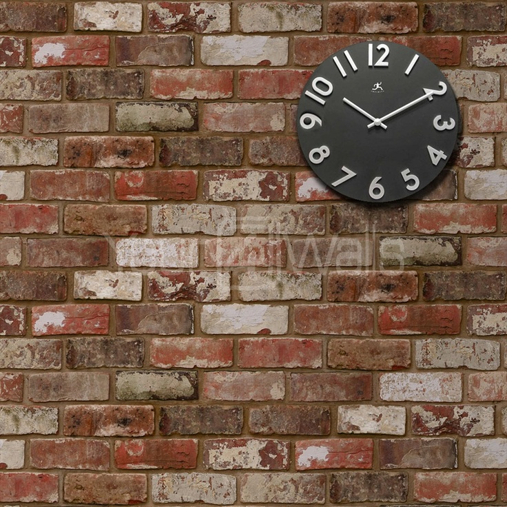 17 best images about colour on pinterest grey walls for Brick effect wallpaper living room ideas