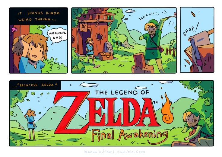 Hanna K. Draws twitter doodle-comic inspired by the new Zelda trailer