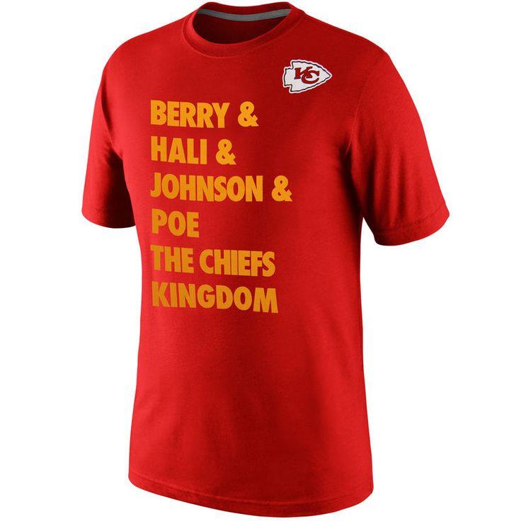 Nike Kansas City Chiefs Defense T-Shirt - Red/Gold