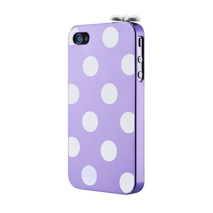 LOLITA POLKA DOT CASE FOR IPHONE 4/4S - PURPLE - The ultimate polka dot case for iPhone 4/4S. Sold with a lovely white knot that plugs into your DC jack. For fashion victims only! http://www.ichicgear.com/lolita-polka-dot-case-for-iphone-4-4s-pink.html