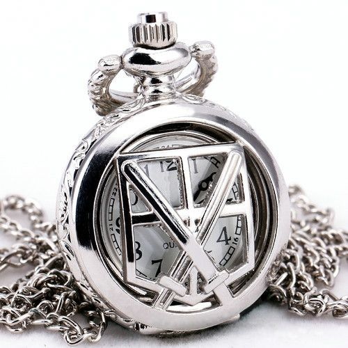 Тд унисекс тонкий ретро старинные полированного серебра кварцевые карманные часы цепи ожерелье + подарочной коробке