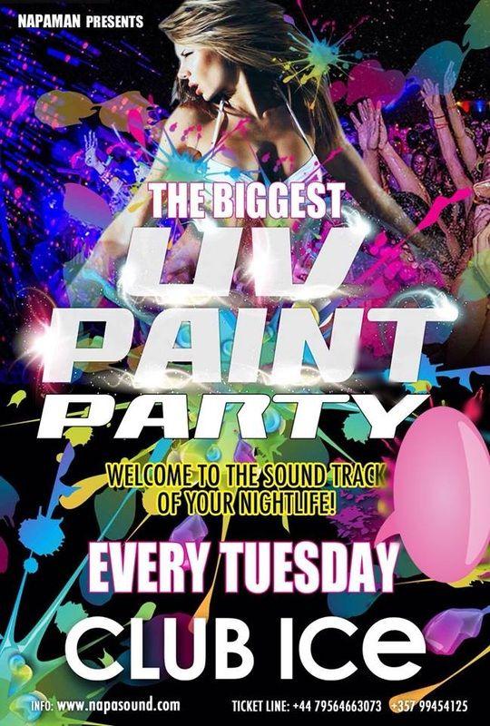 UV paint party Ayia Napa
