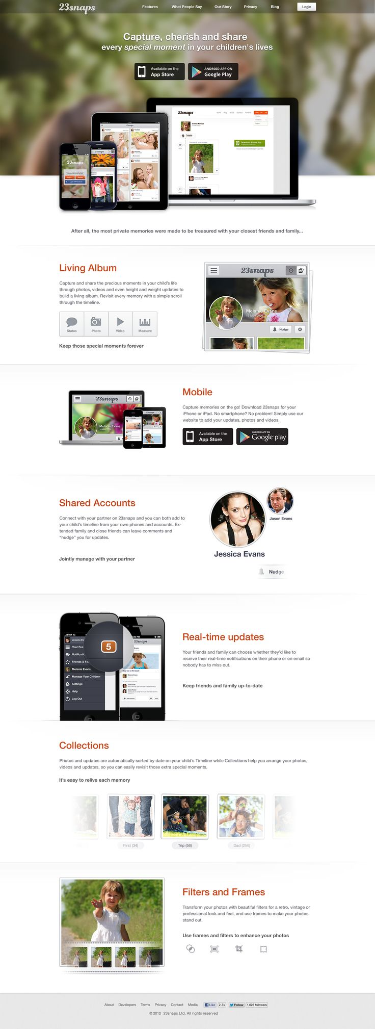23snaps product website 2.0
