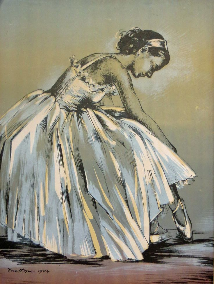 The Ballerina, Graphite and Watercolour, 1954.