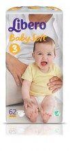 Πάνες Libero Baby Soft Midi No3(5-8 Kg) Jumbo(62 Τεμ)