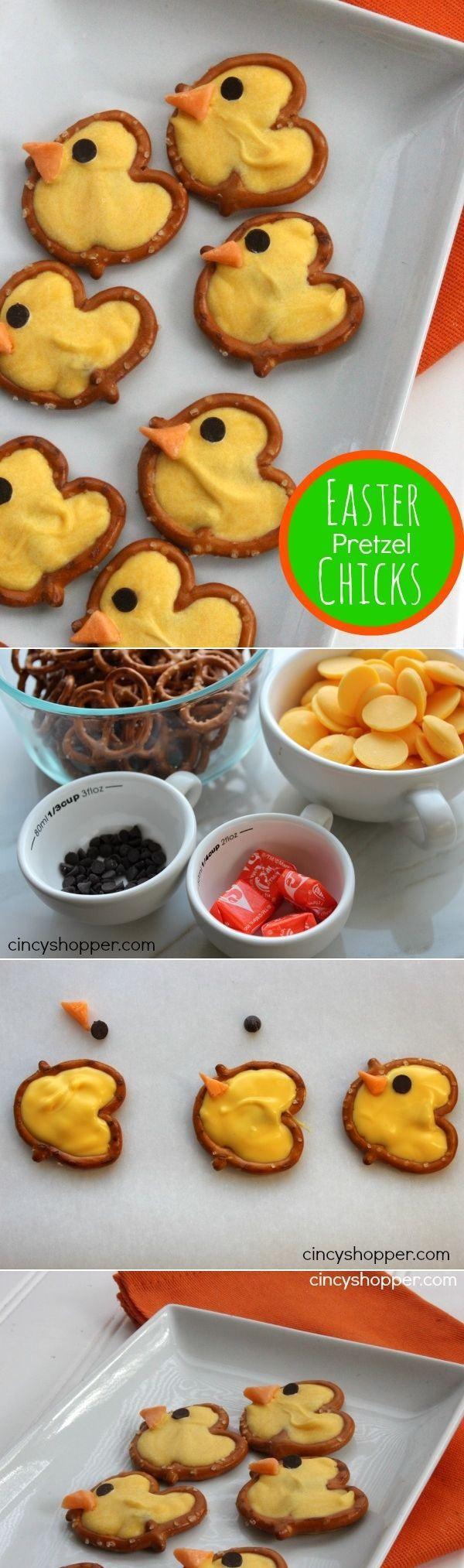 68 best 196 holiday recipes images on pinterest food desserts easter pretzel chick treats negle Images