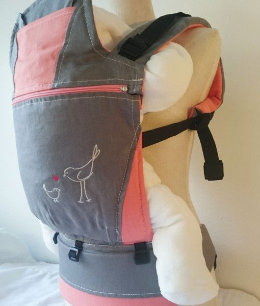 dove grey and mango baby carrier
