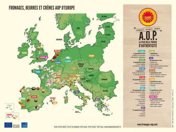 The best cheese of Europe on a map!